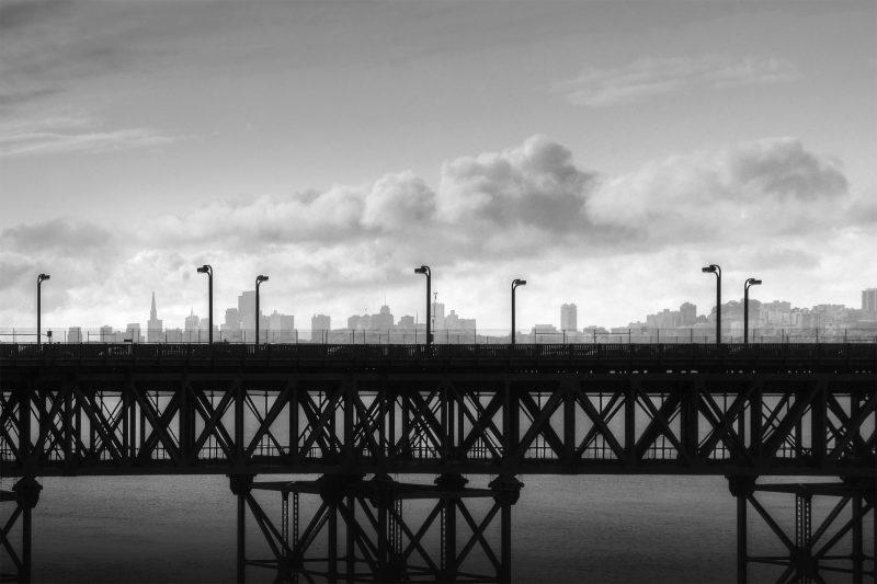 San Francisco Golden Gate schwarzweiß